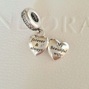PANDORA Dangle Charm My Beautiful Wife heart
